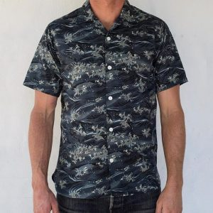 Hawaiian Camp Shirt // Japanese Waves