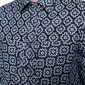 Santa Fe Shirt // Indigo Jacquard